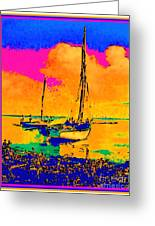 Haitian Fishing Boats Greeting Card