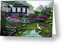 Hakone Gardens Pond In The Spring Greeting Card