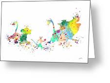 Hakuna Matata 3 Watercolor Art Print  Greeting Card