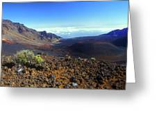 Haleakala Volcano Crater Greeting Card