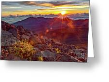 Haleakala Sunrise Greeting Card