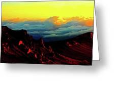 Halekala Sunrise Greeting Card