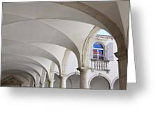 Half Arched Portal Of The Minorite Monastery Cloister Attached T Greeting Card