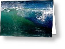 Half Cresting Wave Greeting Card