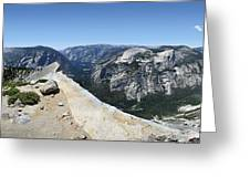 Half Dome And Yosemite Valley From The Diving Board - Yosemite Valley Greeting Card