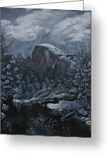 Half Dome Black And White  Greeting Card