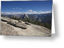 Half Dome From Sentinel Dome Greeting Card