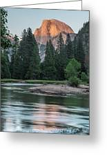 Half Dome In Evening Light Greeting Card