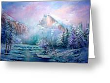 Half Dome Snow Greeting Card