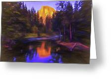 Half Dome Sunset Greeting Card
