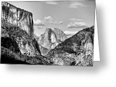 Half Dome Tunnel View  Greeting Card