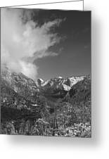 Half Dome Winter Greeting Card