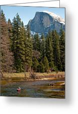 Half Dome Yosemite Greeting Card by Tom Dowd