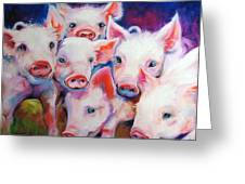 Half Dozen Piglets Greeting Card