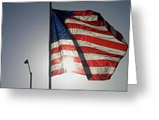 Half Mast Flag Honoring President Ronald Reagan Number 2 Casa Grande Arizona June 2004 Greeting Card
