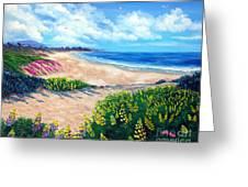 Half Moon Bay In Bloom Greeting Card