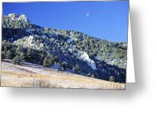 Half Moon Over The Flatirons Greeting Card