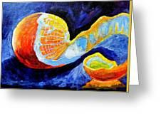 Half Peeled Orange Greeting Card