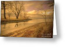 Half Reflections Greeting Card