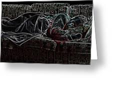 Halfabaskan Sleeping Greeting Card