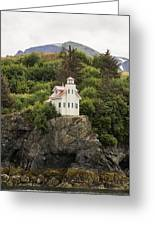 Halibut Cove Lighthouse Greeting Card