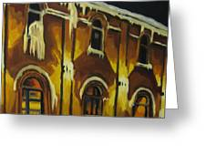 Halifax Ale House In Ice Greeting Card