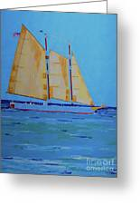 Halifax Keys Schooner Greeting Card