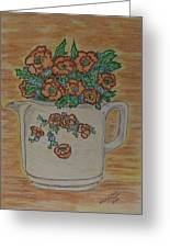 Hall China Orange Poppy And Poppies Greeting Card