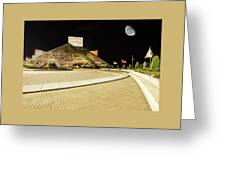 Hall Of Fame At Night Greeting Card