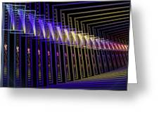 Hall Of Lights Greeting Card