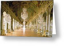Hall Of Mirrors  The Galerie Des Glaces Greeting Card