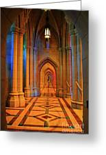 Hall Of The Cathedral Greeting Card