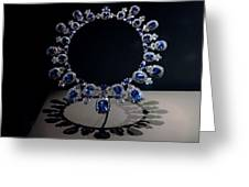 Hall Sapphire And Diamond Necklace Greeting Card
