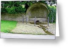 Hall Well - Tissington Greeting Card