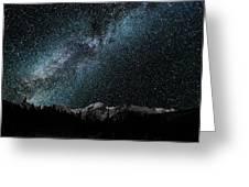 Hallet Peak - Milky Way Greeting Card