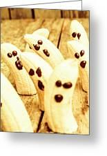 Halloween Banana Ghosts Greeting Card