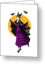 Halloween Batgirl Greeting Card