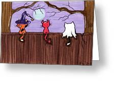 Halloween Cat Costumes Greeting Card
