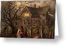 Halloween Dare Greeting Card by Tom Shropshire