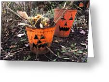 Halloween Faces Greeting Card