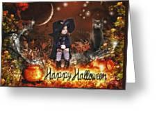 Halloween Girl Greeting Card