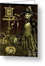 Halloween Graveyard-c Greeting Card