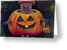 Halloween Hog Greeting Card