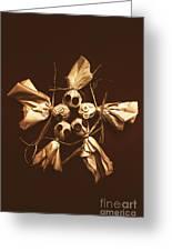 Halloween Horror Dolls On Dark Background Greeting Card