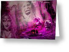 Halloween Landscape Greeting Card