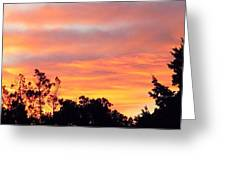 #halloween #morning #sky Is On #fire Greeting Card