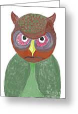 Halloween Owl Greeting Card