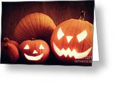 Halloween Pumpkins Glowing, Jack-o-lantern Greeting Card