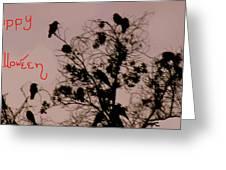 Halloween Ravens Greeting Card