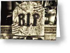 Halloween Rip Rest In Peace Headstone Greeting Card